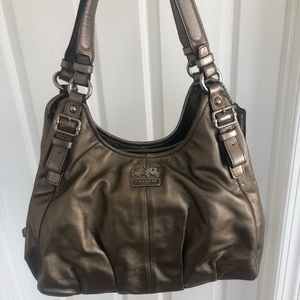 COACH Madison Maggie Leather Hobo Shoulder Bag